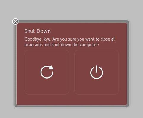 shutdownしましょう。